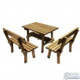 Мебель для беседки из массива дуба